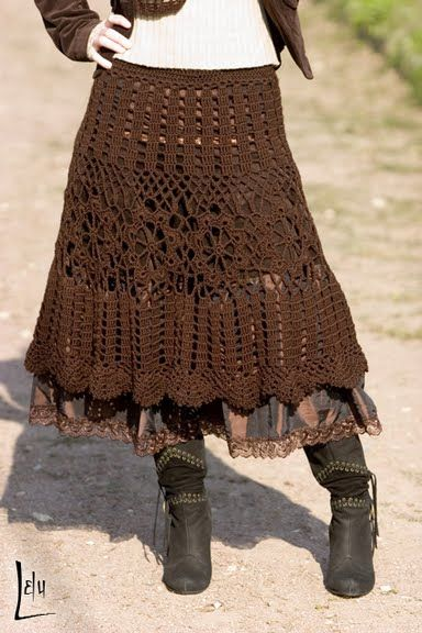 Bohemian Chic Crochet Skirt: diagrams-cute