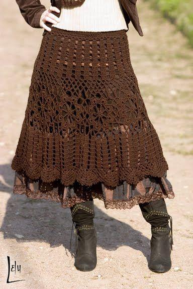 Brasil Tricô e Crochê - Handmade encomendas: Saias em croche