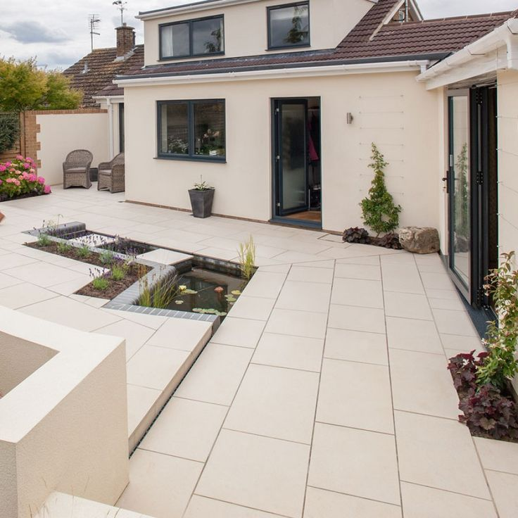 Marshalls Paving-Manmade 'Symphony Vitrified'-Barley-PAVING SLABS, 600x600-20mm (15.12m2)