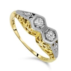 18ct Gold Antique Diamond Ring