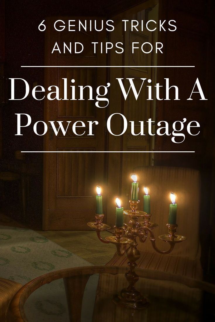 6 Genius Tricks And Tips For Dealing With A Power Outage - Be prepared in case a hurricane takes out your power and leaves you in the dark. | What to do when you lose power | Power Outage Tips | Hacks for Power Lose | Disaster Prep | SHTF