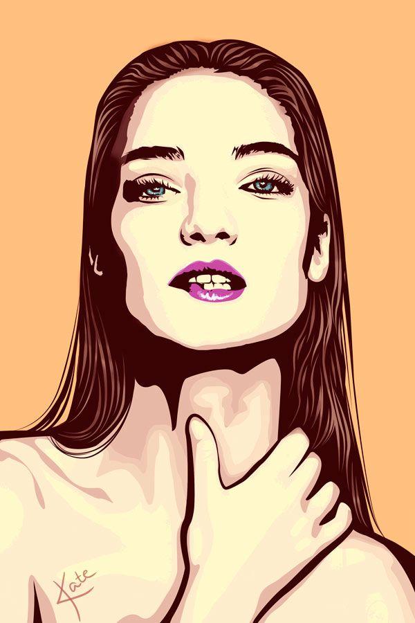 By Katerina Podolskaya drawing, portrait, pop art, girl, art, digital art / рисунок, портрет, девушка, диджитал арт
