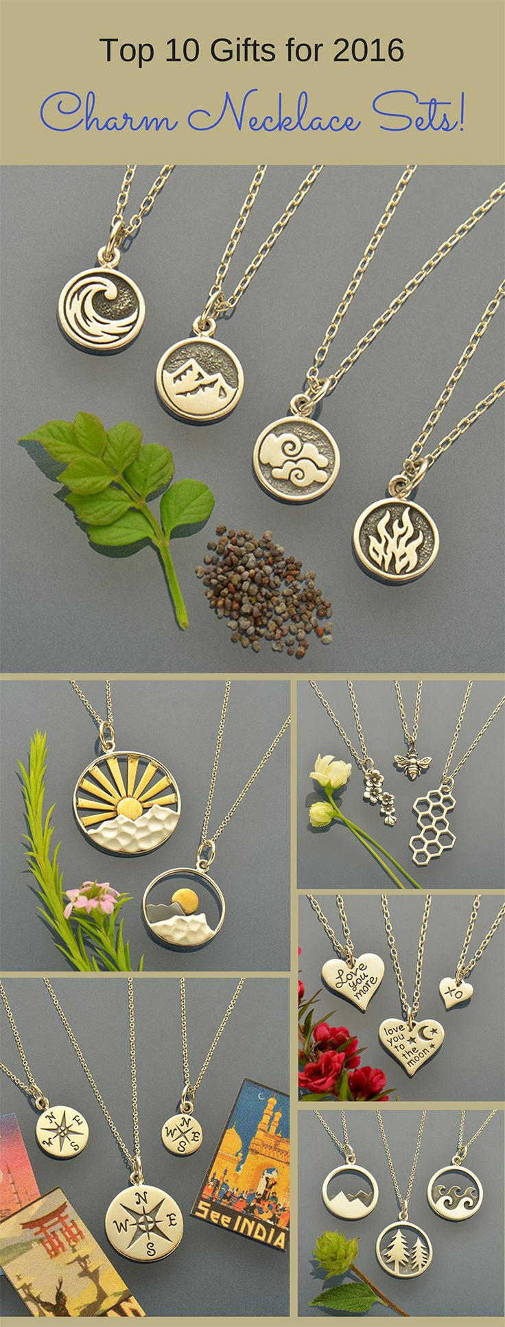 These Charm Necklace Sets are the perfect answer for gift giving this holiday season. Find something for everyone and cross names off of your list. These sets have symbolic meaning representing friendship, generational love and shared passions. Click to shop the entire collection.