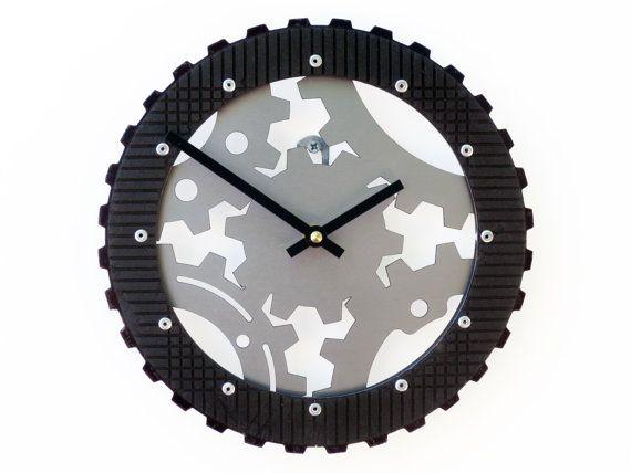 Fathers Day Gift Idea Gear III Small Wall Clock Unique Modern