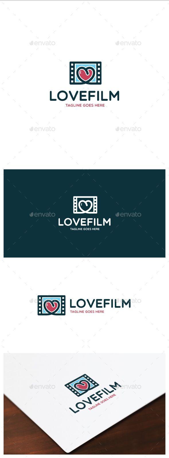 Love Film Logo — Vector EPS #tv #clip • Available here → https://graphicriver.net/item/love-film-logo/15497068?ref=pxcr