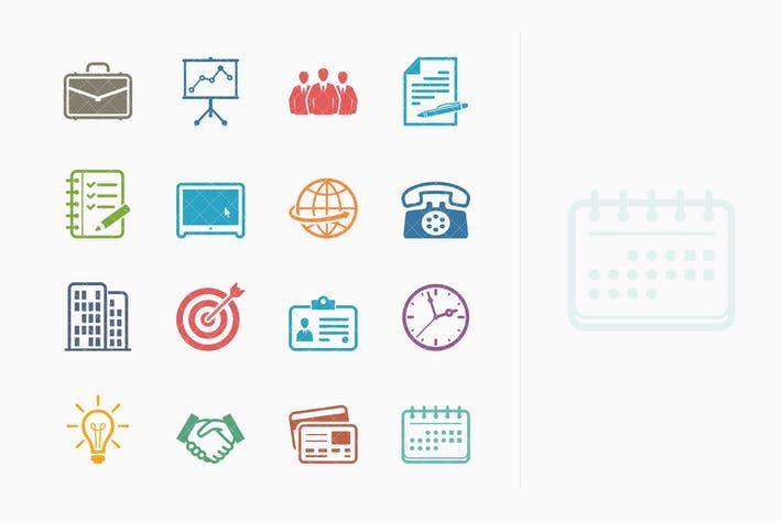Business & Office Icons - Colored Series by introwiz1