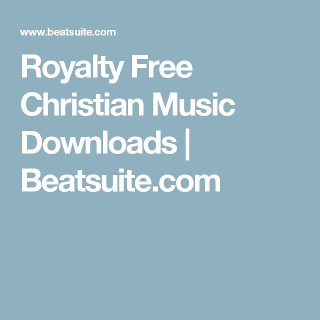 Royalty Free Christian Music Downloads | Beatsuite.com