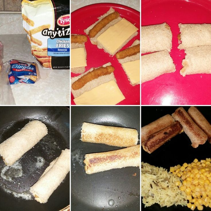Grilled cheese and chicken roll ups