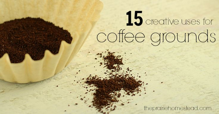Ways to Use Coffee Grounds | The Prairie Homestead http://www.theprairiehomestead.com/2014/02/uses-for-coffee-grounds.html