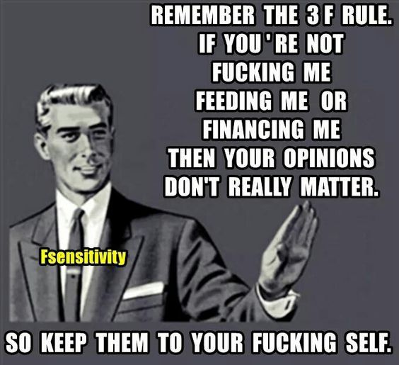 LMAO! For me it's just the one F that matters - Financing. No takers yet, so no F's given.
