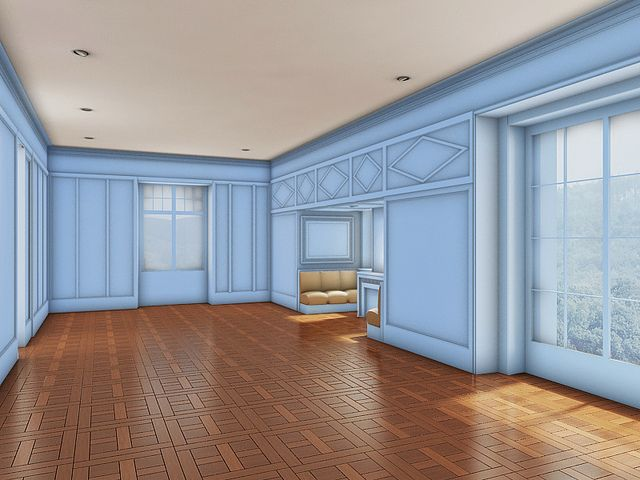 interior design color contrast and material study for the room