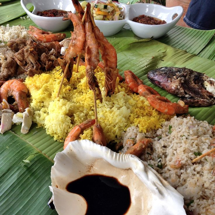 Luau boodle fight set-up for my parents' wedding anniversary celebration