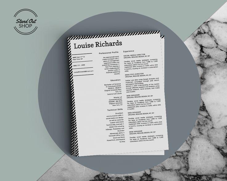 8 best Louise Richards Edge \ Style Resume Templates images on - stylish resume templates