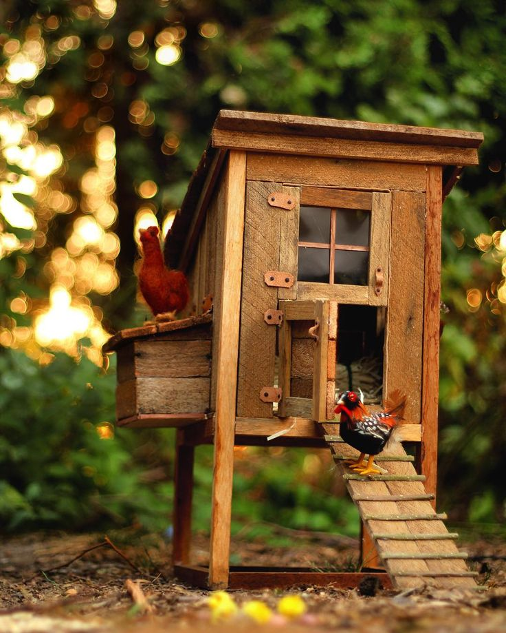 Chicken coop made for #american girl doll