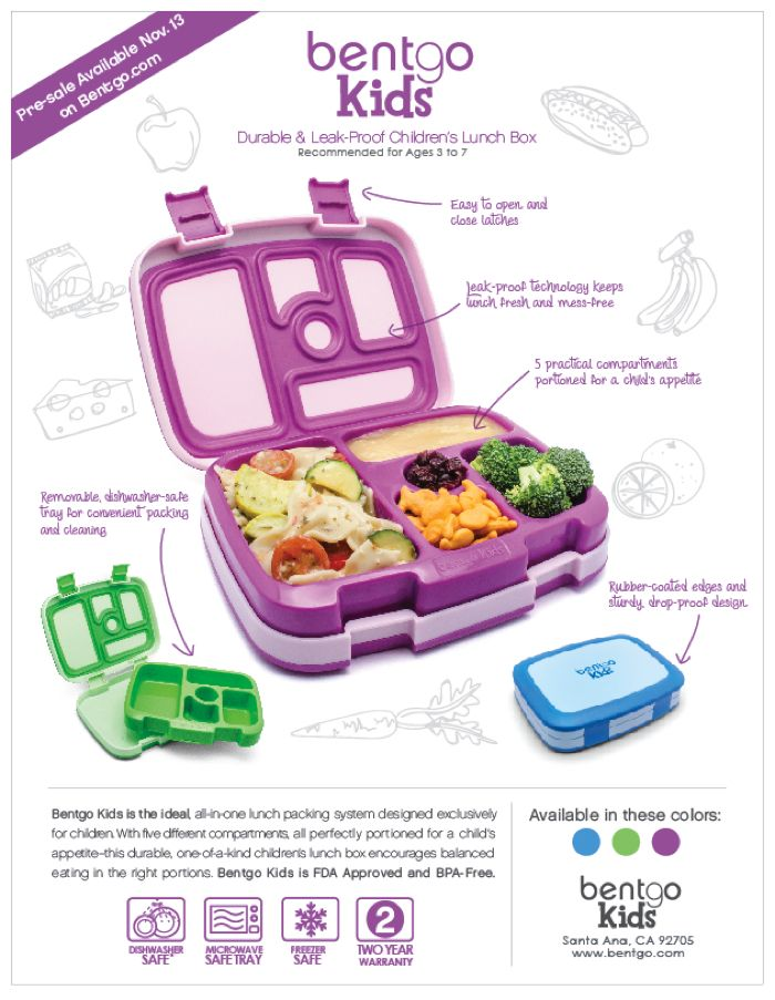 Enter this bentgo giveaway to win one of FIVE Bentgo kids lunch boxes!