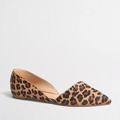 j.crew factory leopard print d'orsay flats