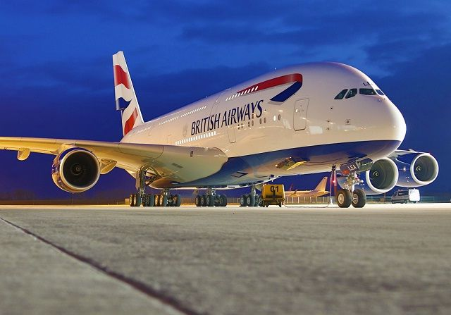 British Airways rolls out first painted A380.