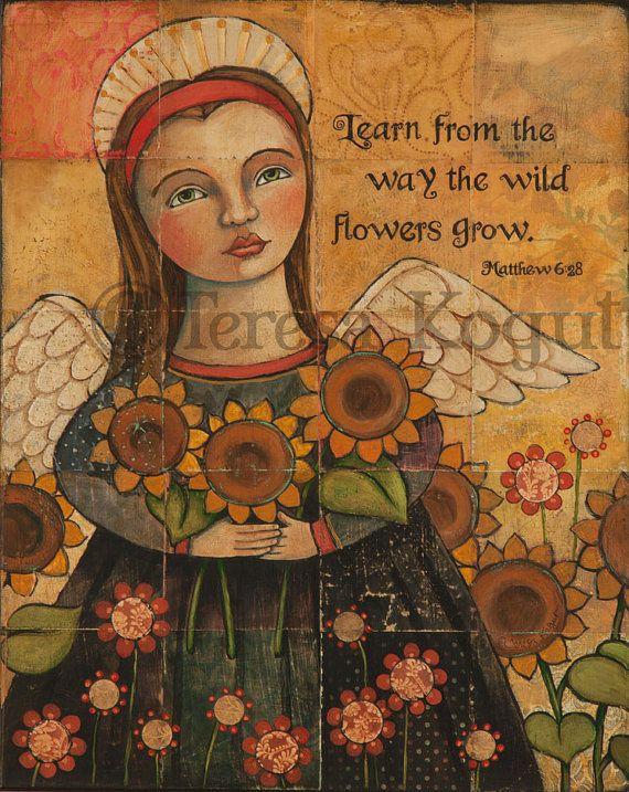THE WILDFLOWERS GROW 11x14 print by Teresa Kogut by teresakogut:
