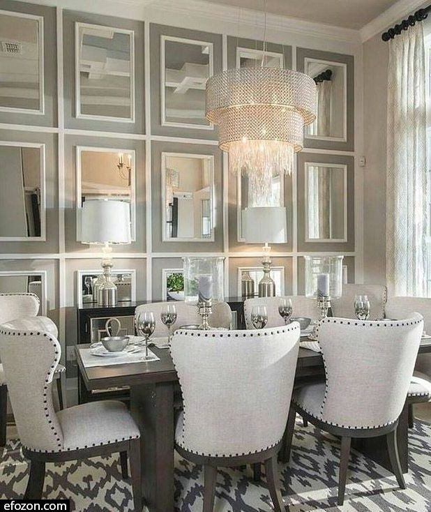 40 Charming Dining Room Decoration Ideas Image 9 Of 54 In 2020 Mirror Dining Room Luxury Dining Room Luxury Dining