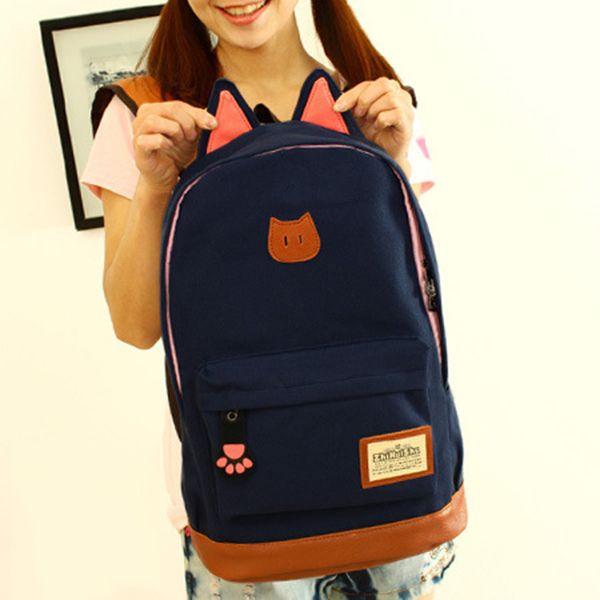mochilas mujeres moda bolsos de escuela para las niñas estudiantes mochila bandolera bolsas de viaje mochila mochila,  mochila gato