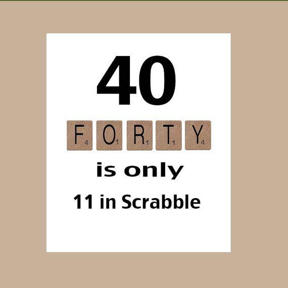 40th Birthday Card, 40th Birthday, Milestone Birthday, The Big 40, Scrabble Card