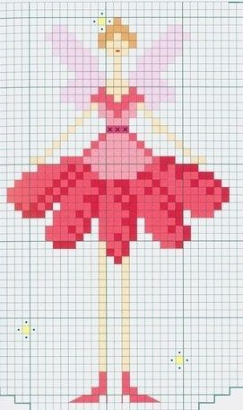 free cross stitch chart. - tooth fairy?