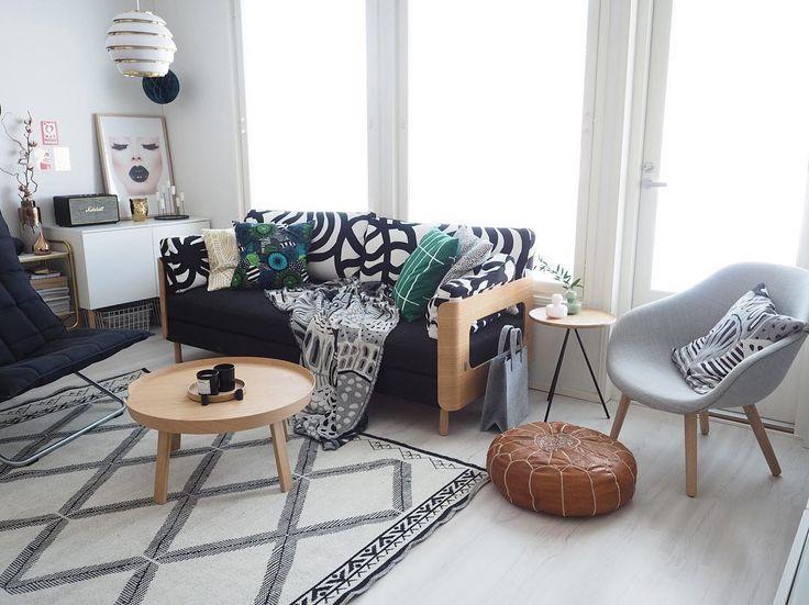 "The marimekko look! Featuring Joonas print, siirt, and kumiseva designs.    (@kaikkimitaolen) on Instagram: ""Happy weekend  #interiordesign #interiør #interior4all #interior123 #nordichome #nordiskehjem…"""