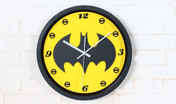 Американский героизм 3D стереоскопический фильм логотип-бэтмэн классический настенные часы, Дома декоративное немые настенные часы