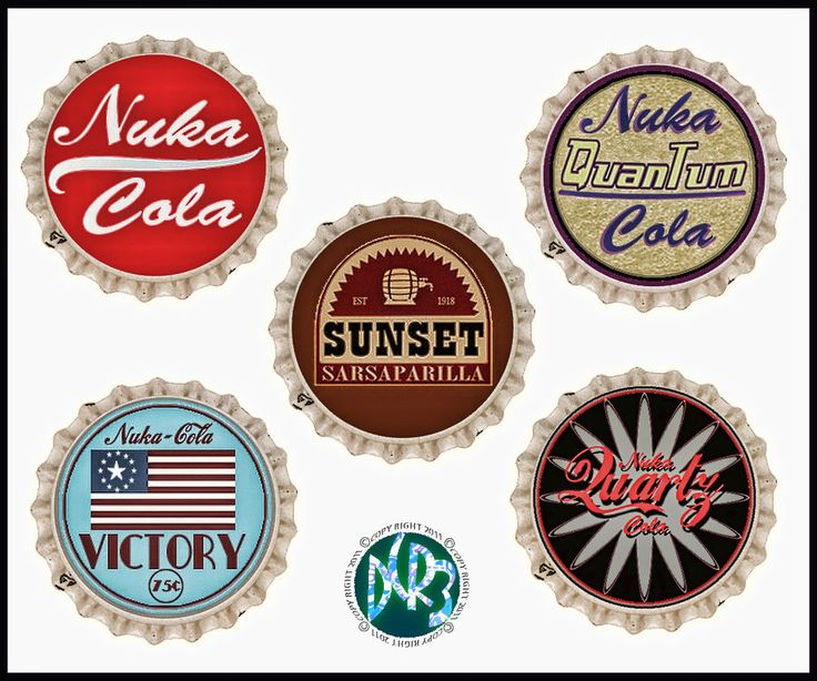 Fallout 3 and New Vegas bottle caps by DCRIII