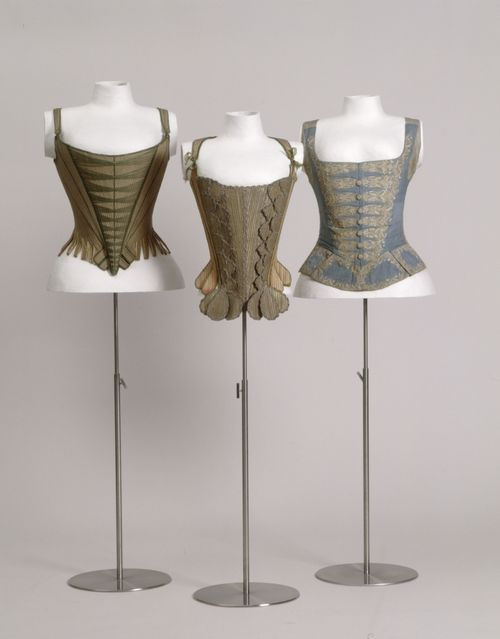A really nice collection of 18th century corsets.  If I ever decided I needed one, I might model it on the one on the right.