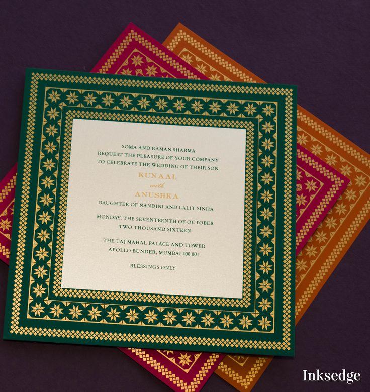 147 best Designer Wedding Invitation Cards images on Pinterest