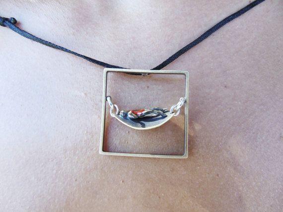 Square Minimal Pendant Handmade PendantGirl by pepeyoyojewellery