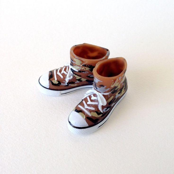 RARE Takara Blythe Doll Stock Shoes - Brown Cameo Converse Boots Shoes #Takara #ClothingAccessories