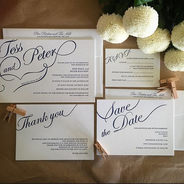 Happy Saturday morning! No better way to start an inspired weekend than with a stunning design like this. #fentonink #letterpress #letterpresslove #fonts #pompoms #weddinginvitations #perthwedding #weddingideas #happysaturday