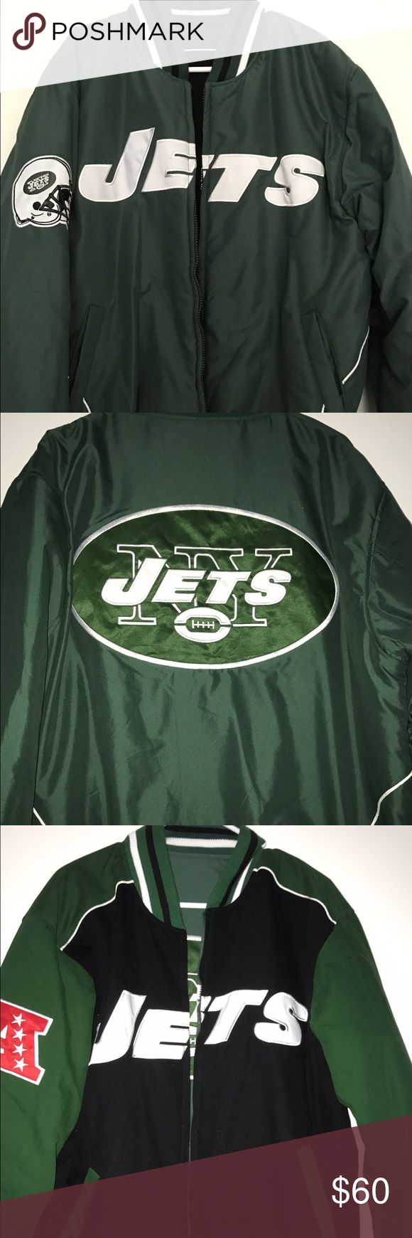 NFL jets jacket Reversible Jets jacket..... excellent condition... smoke & pet free NFL Jackets & Coats Puffers
