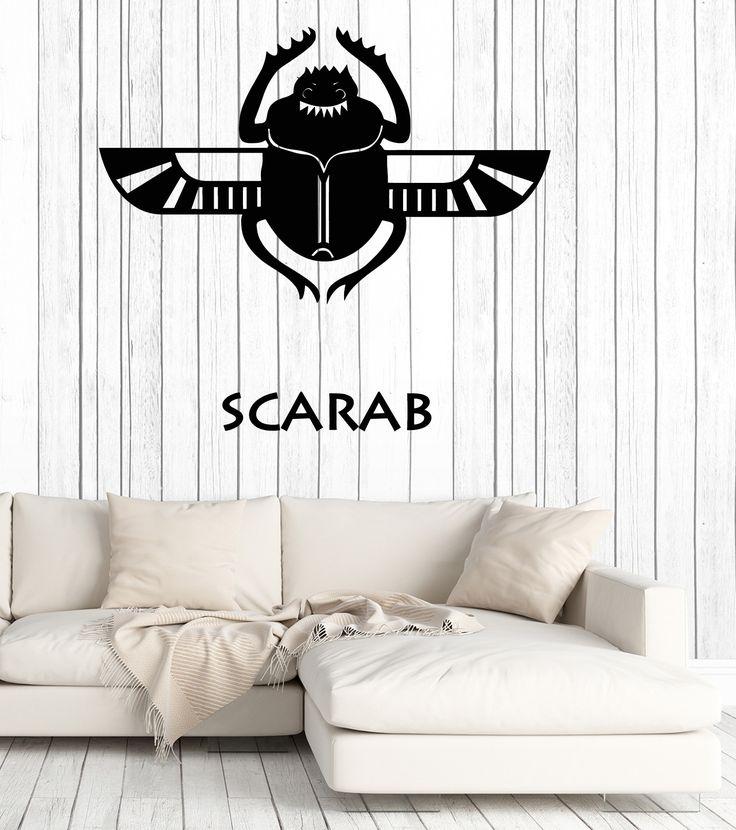 Wall Vinyl Decal Scarab Egiptian Talisman Symbol Home Interior Decor z4626