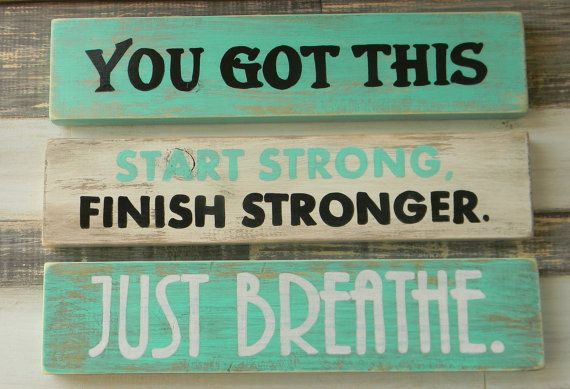 Teen bedroom decor, Dorm decor, You got this, Just breathe, Start strong, Graduation gift, Christmas gift, Beach decor