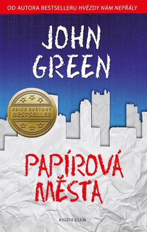 Czech cover of the book Paper Towns by John Green.