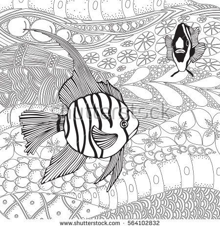 Coloring Book Pages Of Fish : 7196 best color me images on pinterest