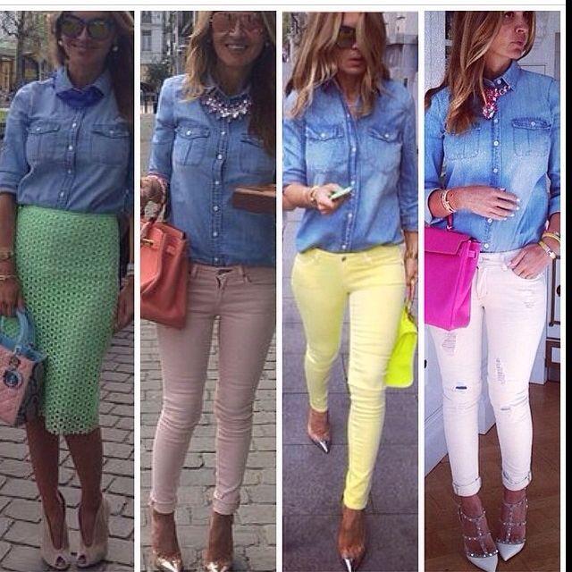 Pantalones de colores