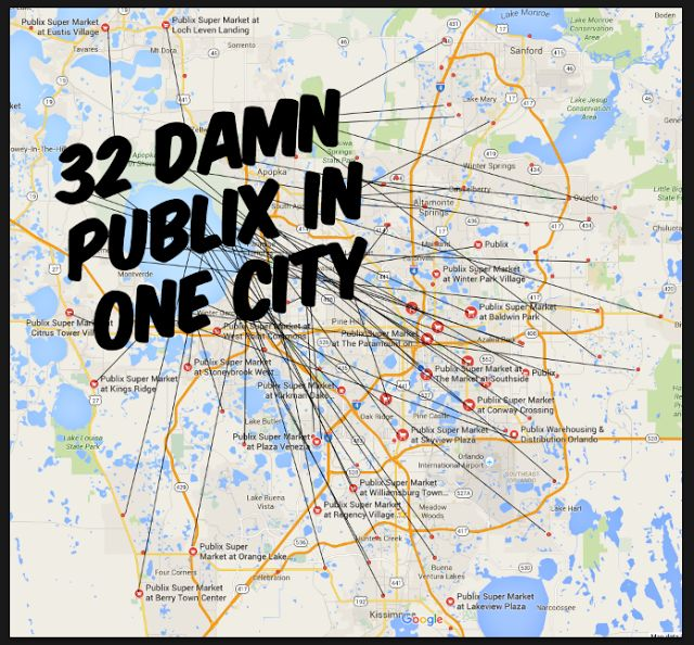 THE DAILY CITY: 32 Publix Locations in Orlando Alone. Damn!
