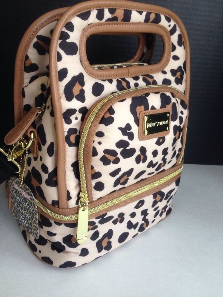 NWT $58 BETSEY JOHNSON INSULATED SPOTTY LEOPARD LUNCH TOTE BAG BOX OR BABY BAG in Clothing, Shoes & Accessories, Women's Handbags & Bags, Handbags & Purses | eBay