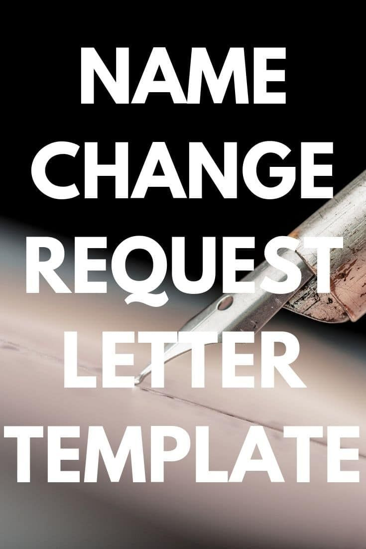 Letter For Change Of Name After Marriage Template Printable