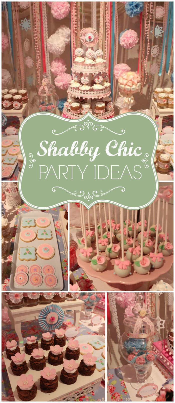 You won't believe all the details at this shabby chic party! See more party ideas at CatchMyParty.com!
