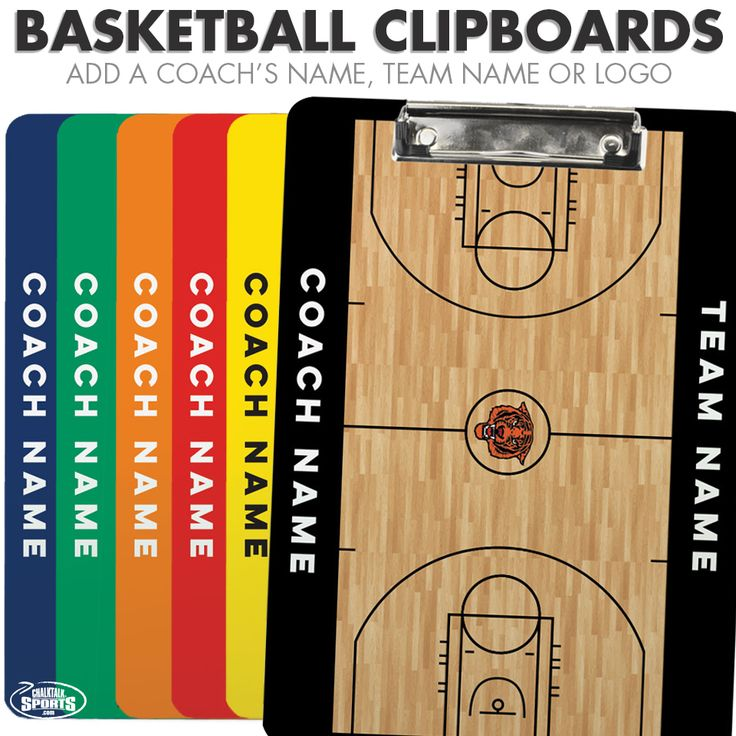 Personalized basketball coach clipboards - Great for ANY coach, on any level.
