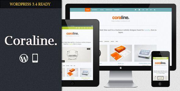 Coraline Ajax And Responsive WordPress Theme