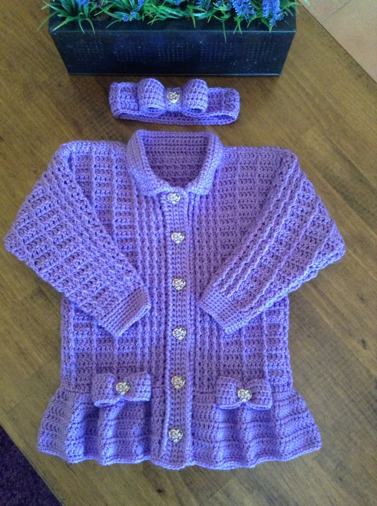 955 Best Images About Crochet Baby Sweater Sets Amp Jackets Ponchos On