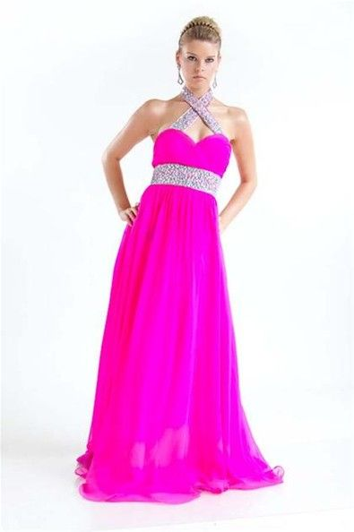 Neon pink prom dresses cheap