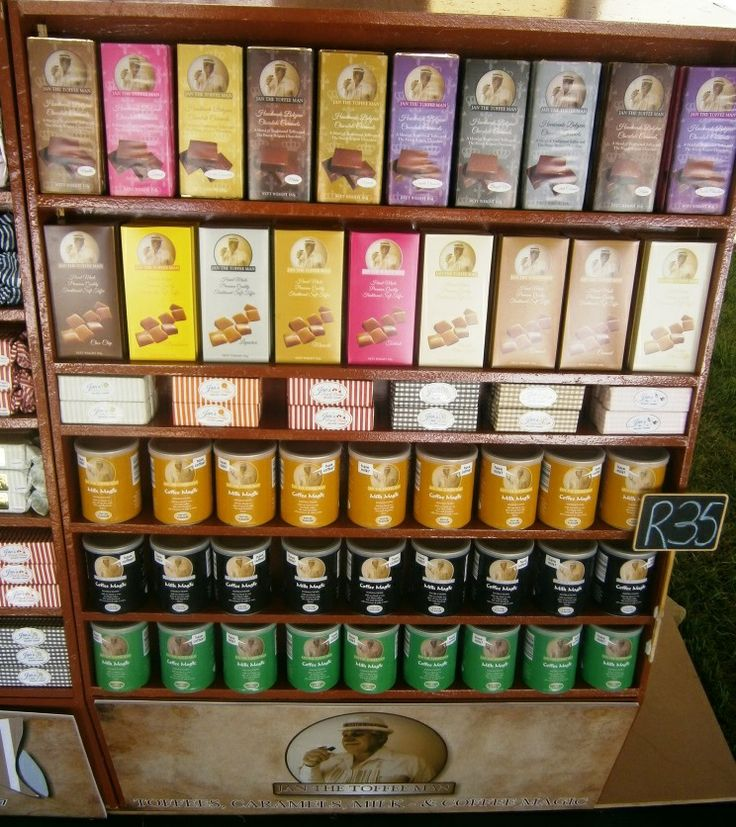 These are the brand new Jan the Toffee Man range of premium chocolate caramels and toffee. In the tins is the Jan the Toffee Man Milk Magic and Coffee Magic, the best drink flavourant you'll ever find.