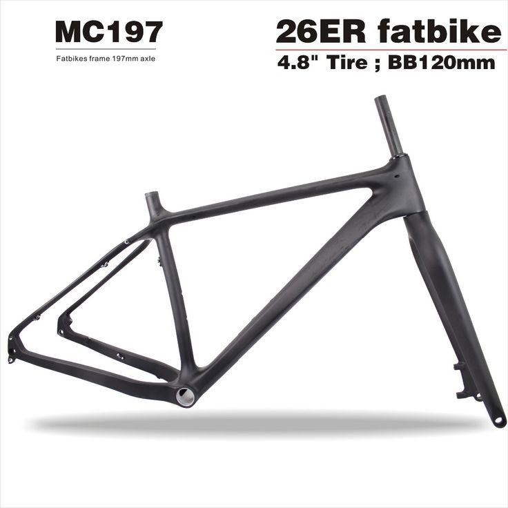 """High end 2016 cheap 12*197mm Thru-axle Carbon Fat Bike Frame+fork,Snow bikes 26er*4.8"""" Fatbike tire Carbon Bike Frame MC197"""